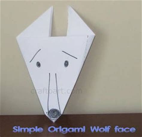 Easy Origami Wolf - simple origami wolf origami
