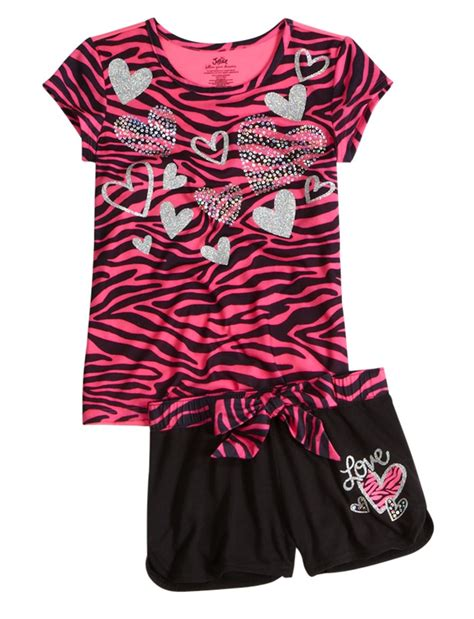 Zebra Piyama Set zebra 2pc pajama set sets pajamas shop justice 2 pc sets
