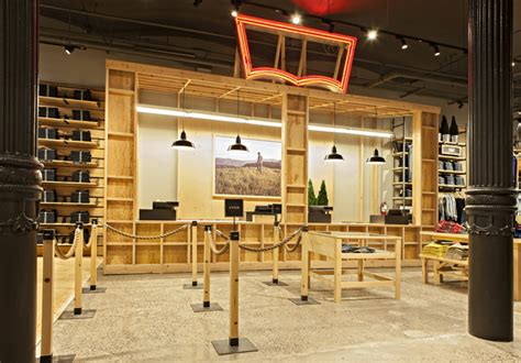 Levis Furniture Outlet wooden store interiors levi s store by mbh architects