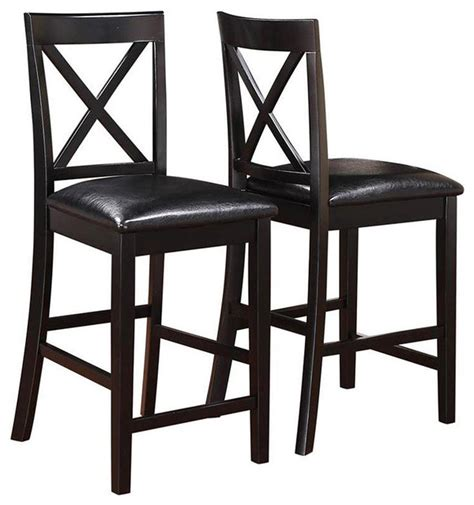 black counter stools houzz raw adjustable stool gunmetal bar stools arosa black cross back counter stools set of 2