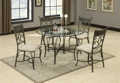 sheridan grey metal and glass dining table set steal a