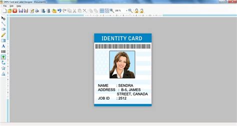 employee id card design software free screenshot of label designer free version 7 3 0 1