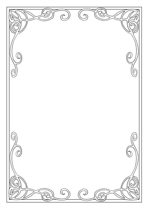 Pattern Frame Drawing | art nouveau frame patterns texture mark making