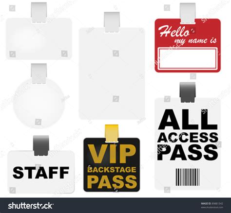 Vip All Access Pass Template Pictures To Pin On Pinterest Pinsdaddy Vip Name Tag Template