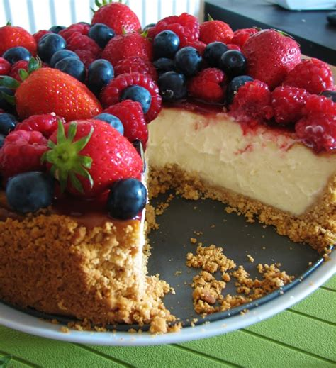 Fruit Cheese Cake summer fruit cheesecake