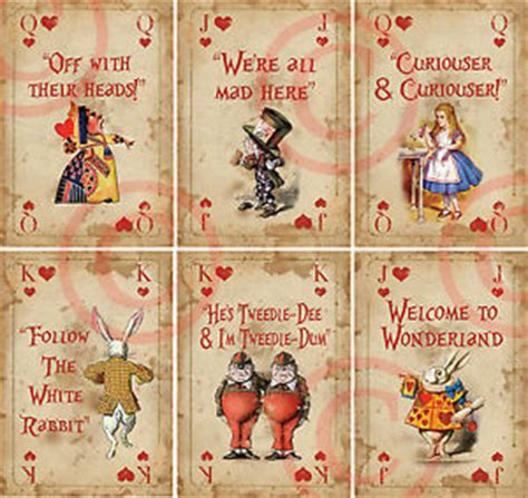 mad hatter card template 6 in 6 mini card decoration props