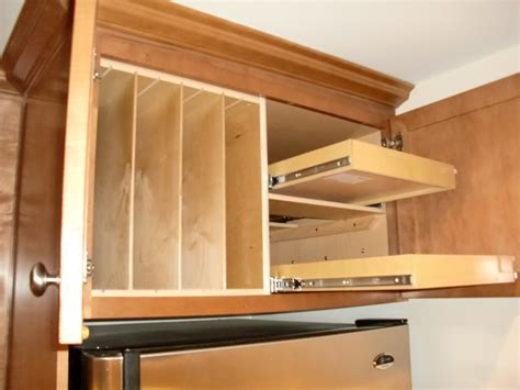 Tray Dividers For Kitchen Cabinets by Kitchen Cupboard Organizers Cabinets Around Fridge Above