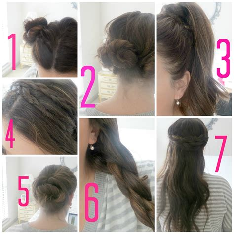 quick n easy hairstyles for thin hair quick and easy hairstyles for school step by step