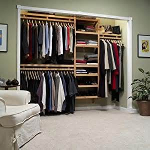 louis home standard closet system in maple or