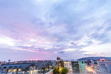 background kota background cityscape of kota kinabalu city at sunset