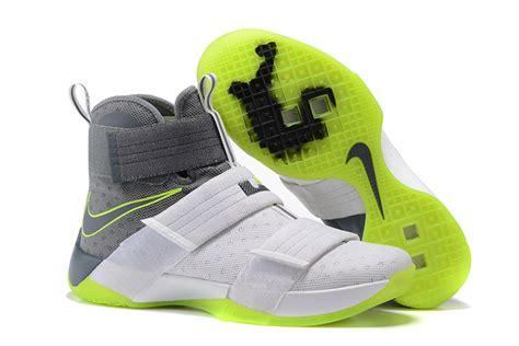 Nike Lebron Soldier 10 Dunkmen Original nike zoom lebron soldier 10 dunkman white cool grey electric green hoop