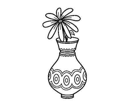 disegni di vasi disegno di un fiore in un vaso da colorare acolore
