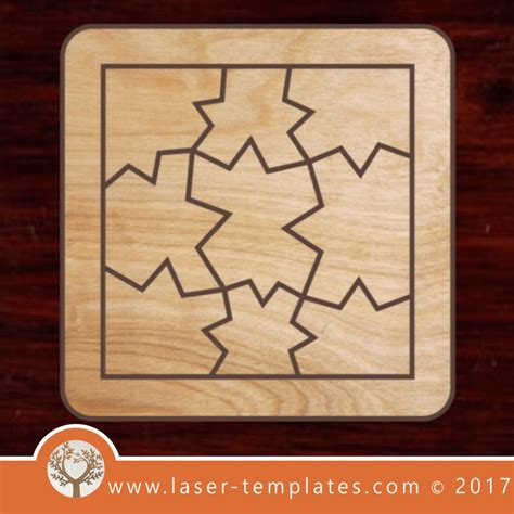 Educational Puzzle Template Download Laser Cut Designs Laser Ready Templates Laser Cut Puzzle Template