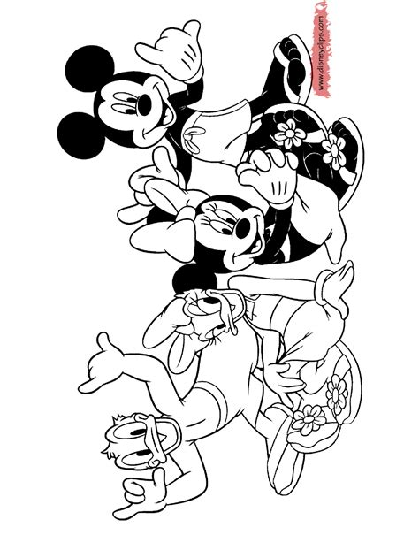 mickey mouse beach coloring pages mickey mouse and friends printable coloring pages 3