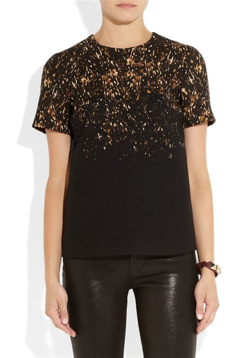 Kaos T Shirt Kawele Bay Ur041 1 lyst burberry prorsum leopard print wool jersey top in black