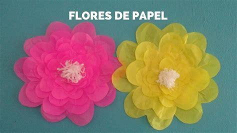 flores en papel seda paso a paso flores de papel seda youtube