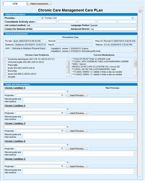 Chug Ccm Chronic Care Management Chronic Care Management Template