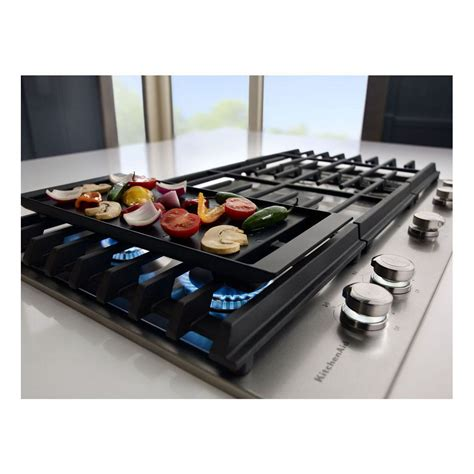 Gas Cooktop With Griddle Kcgs956ess Kitchenaid 36 Quot Gas Cooktop With Griddle