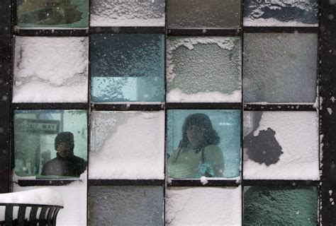 snow on windows major nor easter begins to blanket the northeast photos business insider