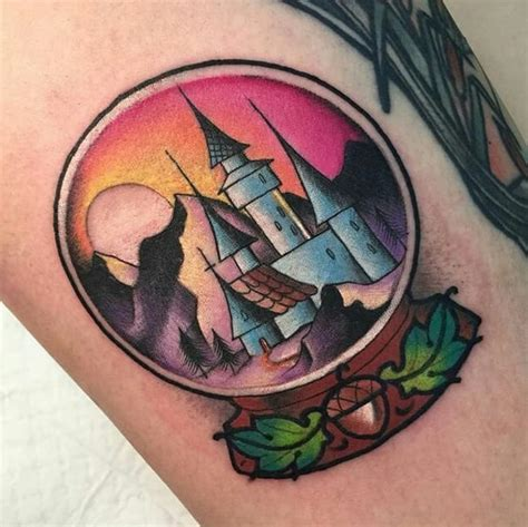 these bright snow globe tattoos snow globe tattoos snowy winter landscapes tattoodo