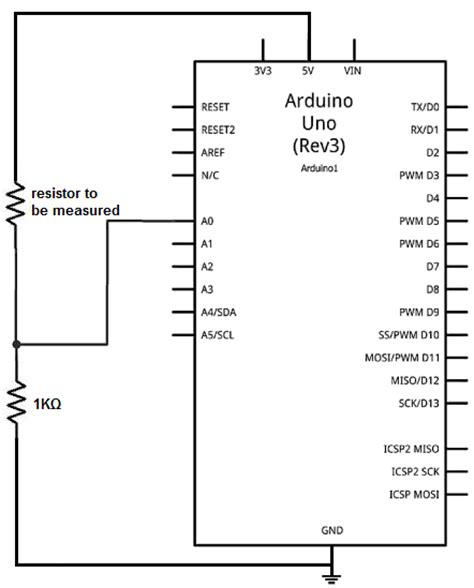circuit resistor use how to build an ohmmeter using an arduino