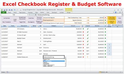 excel budget worksheet simple checkbook register for checking saving