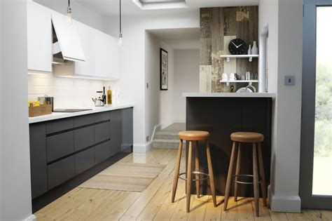 Kitchen Decorating Ideas For Countertops wren kitchens handleless charcoal gloss