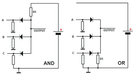definition of diode logic circuit diode logic tutorial circuits combination logic tutorials electronics hobby projects
