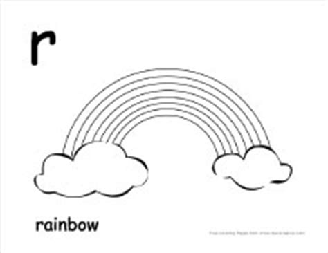 R Is For Rainbow Coloring Page by Letter R Writing And Coloring Sheet