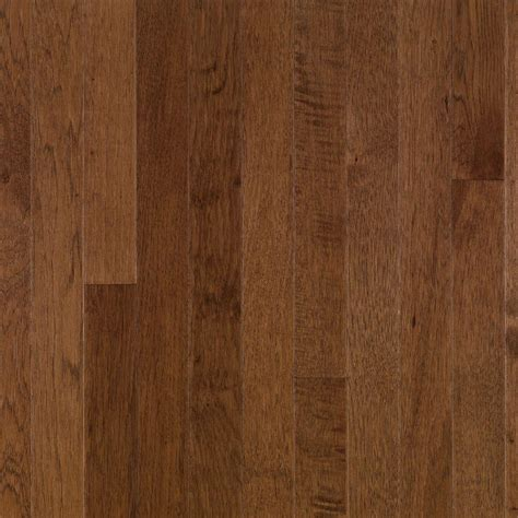 Brown Hardwood Floors by Bruce Plymouth Brown Hickory 3 4 In Thick X 2 1 4 In Wide X Random Length Solid Hardwood