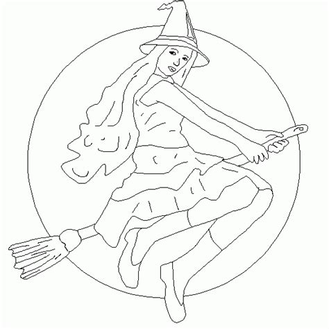 halloween coloring pages witch on broom coloring halloween a witch on a broom halloween