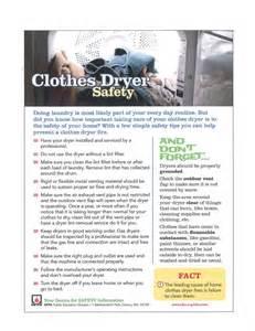Clothes Dryer Safety Safety City Of Port Alberni