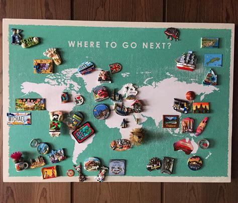 art design souvenirs souvenir magnets display worldmap travel souvenirs