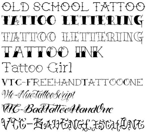 tattoo fonts traditional school lettering ink fonts lettering