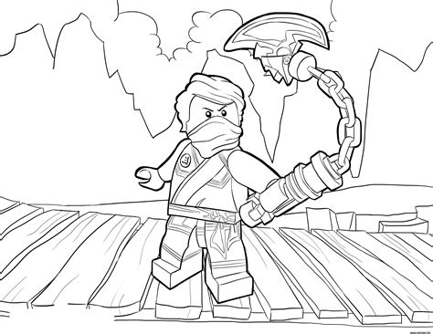lego nindroid coloring page coloriage lego ninjago lloyd tournament of elements dessin