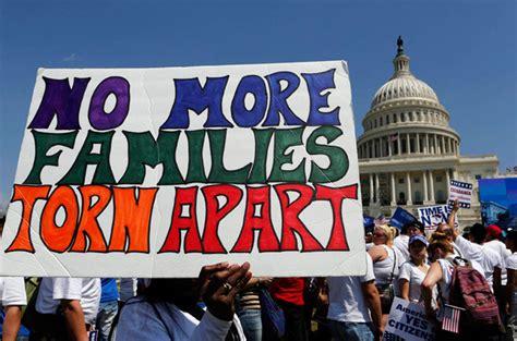 obama  halt inhuman deportation  illegal immigrants