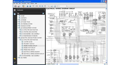 Shop Manual Komatsu Wa150 5 komatsu wheel loader wa100 series service repair manual