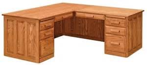 Corner Computer Desk Furniture Amish Office Furniture Solid Wood Mission Corner Computer Desk 1799