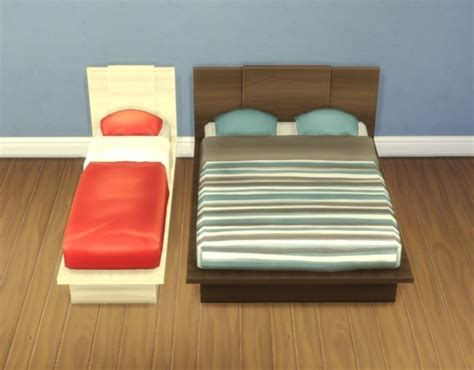 Mattress On Emi emi uto bed frames by plasticbox at mod the sims 187 sims 4