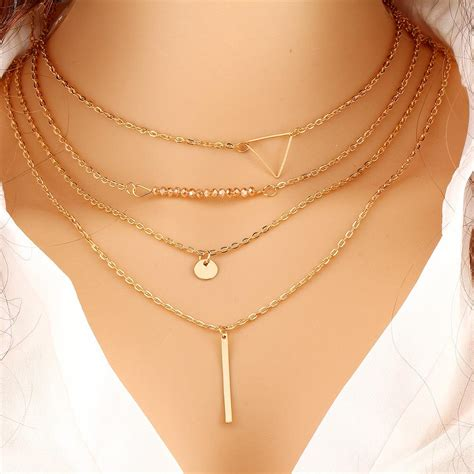 Special Kalung Fashion Basic Plain Chocker Choker Necklace Aa050 Terla new fashion simple multilayer gold chain triangle chokers necklace for jewelry hl0286 in
