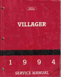 how to download repair manuals 1994 mercury villager navigation system 1994 ford villager service manual