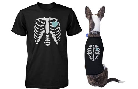 matching and owner shirts skeleton matching pet and owner t shirts for and human