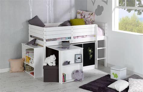 lit enfant bureau set complet enfant paraiso blanc idkid s