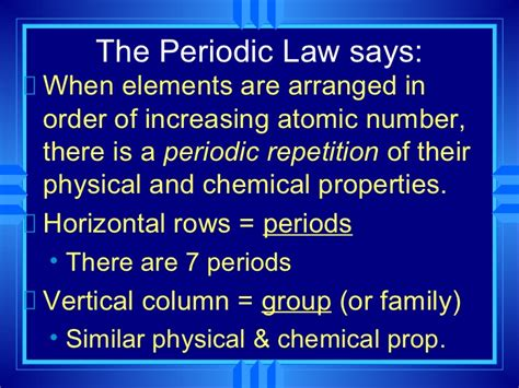 section 7 family law chemistry chp 6 the periodic table revisited powerpoint