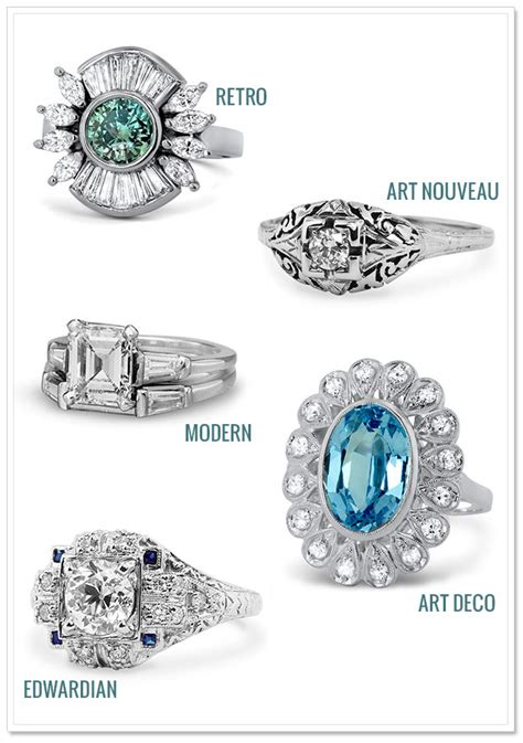 antique engagement rings from brilliant earth artfully