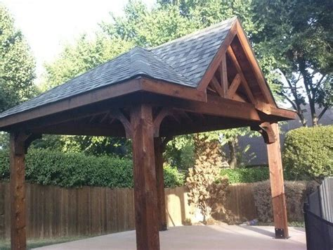 Gable/hip roof free standing cedar patio cover   outdoor