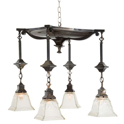 Colonial Light Fixtures American Colonial Four Light Fixture At 1stdibs
