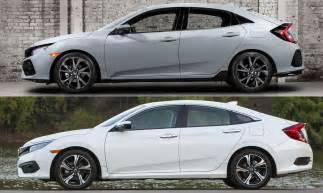 side comparison hatch sedan coupe 2016 honda civic