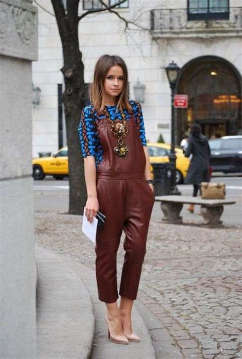 Overall Maroon 1 swag mira duma in maroon leather overalls style cool