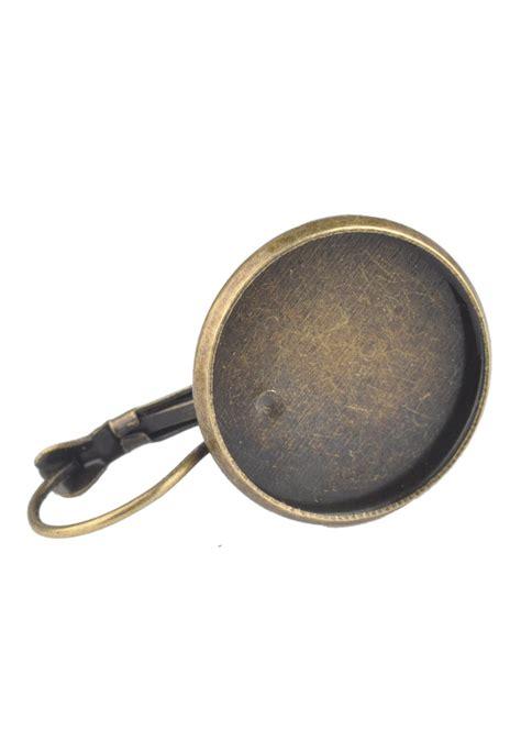 metal snap earrings 32x20mm for 18mm flat back